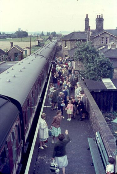 Meldreth Station ~1960.  Note the Gentleman's toilet in the centre of the photo and then scroll down to read an amusing article about it. | Ann Handscombe