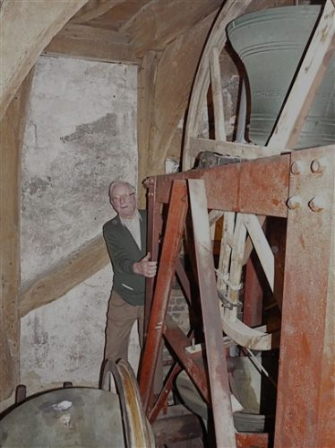 John in the church tower, 25th March 2011 | Photograph by Peter Draper