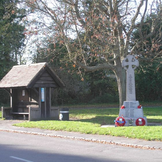 Meldreth War Memorial and the Bus Shelter
