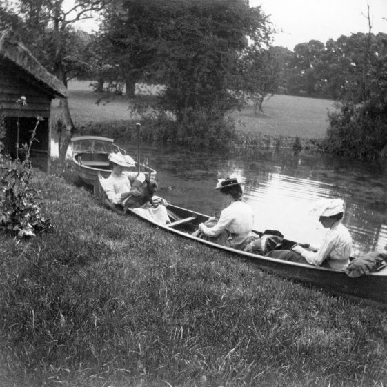 Relaxing in a punt at The Bury | Melbourn Local History Group