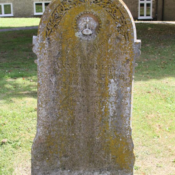 22: In Loving Memory /of/ ANN THURLEY/ who died June 17 1891/in her 57th year/ I was brought low and he helped me/PS CX IV.6 | Photograph by Malcolm Woods