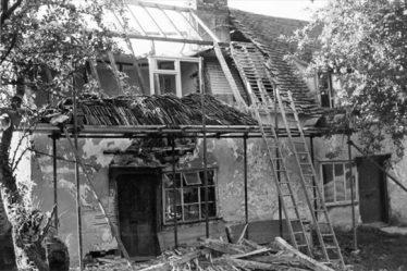 23 North End during restoration 1965 | Barbara Houseden