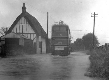 Flooding at Station Road (possibly 1950s) | Melbourn Local History Group