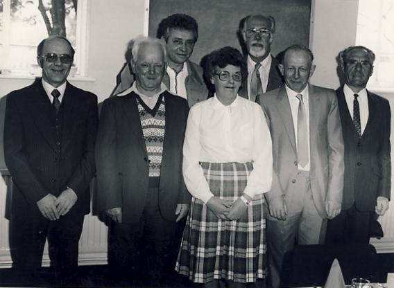 25 Year Service in the Eternit Board Room in 1985