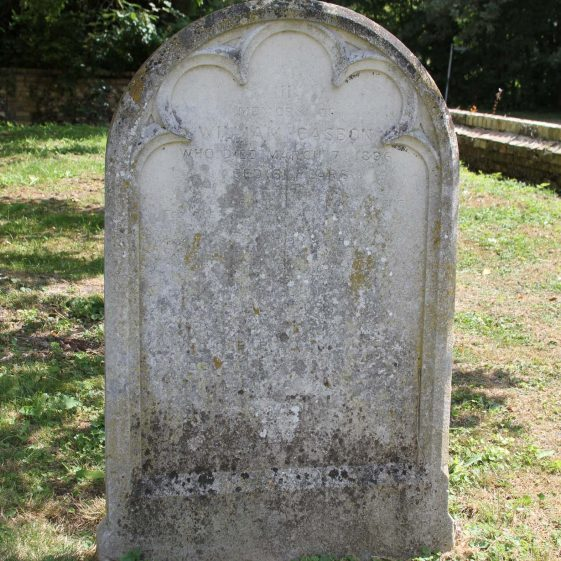 27: In/ Memory of/ WILLIAM CASBON/ who died March 7th 1896/aged 61 years/