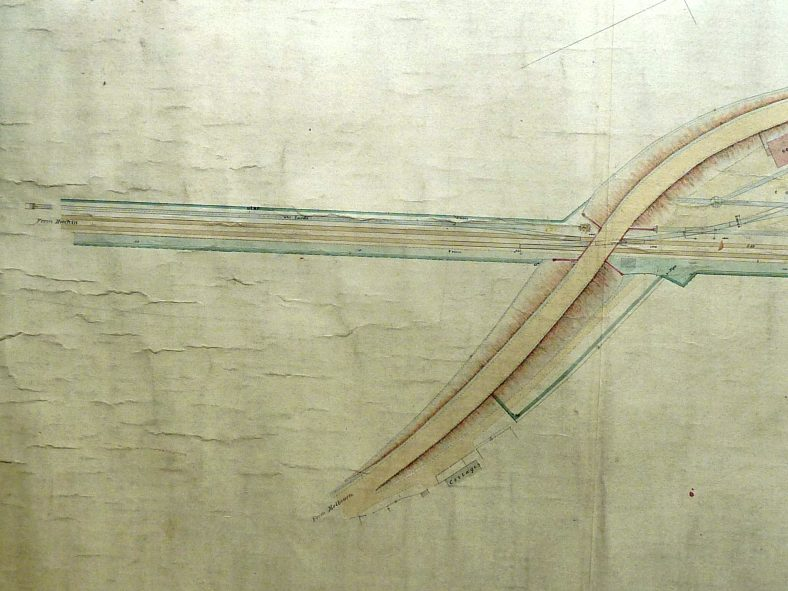 1894 Great Northern Railway Plan of Meldreth Station and Goods Yard