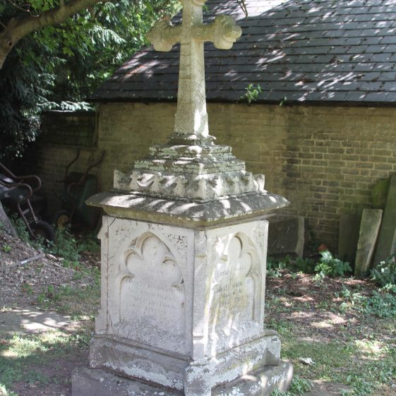 32: In/Memory/ of/ EDWARD WILLIAM CORY MA/ for nearly 30 years/ Vicar of this Parish/ Born October 1st 1828/Died February 11th 1894; In/Memory/ of/SOPHRONIA CORY/ wife of/ The Vicar of this Parish/ Born August 8th 1837/ died January 24th 1866/; In/ Loving memory/of/ELIZABETH MELICENT CORY/Widow of the/Revd. EDWARD WILLIAM CORY/ Fell asleep April 26th 1917/aged 86 years./ When I wake up, I am present with thee./ | Photograph by Malcolm Woods