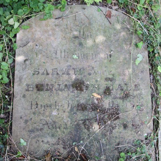 33a: In/memory of/SARAH wife of/BENJAMIN HALE/died .June../aged ... | Photograph by Malcolm Woods