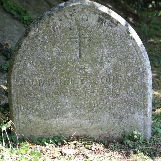 34: Sacred to the Memory/of/ HUMPHREY COURSE/Who died Oct. 18th 1889/ In the 74th year of his age./ So he giveth his beloved sleep./ PS CXXVIII vVIII | Photograph by Malcolm Woods