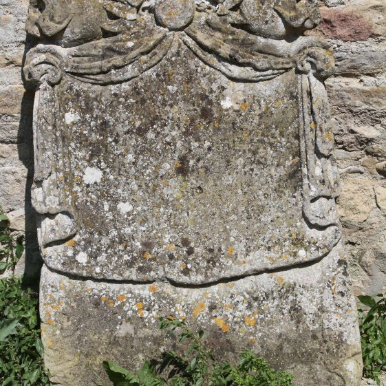 37: Here lieth/ Body of WILLIAM SURPLES/ of Meldreth in the County of/ Cambridge. Yeoman who died (June 2) 1691/Aged .. years leaving/ issue 4 daughters/MARY, SARAH SURPLES/ELIZABETH SUSANNAH | Photograph by Malcolm Woods