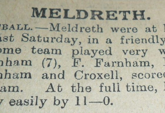Meldreth Football Club: the early years to 1921-22