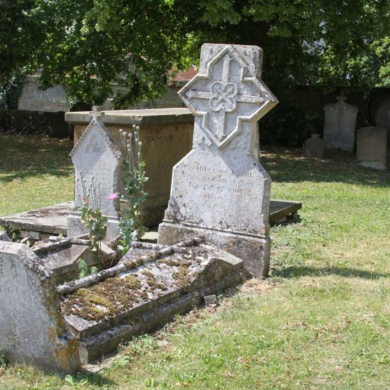 41: Here rest/THOMAS FOGG CLARK/ Vicar of this parish 14 years/ died Feb. 27 1864/ aged 68./ | Photograph by Malcolm Woods