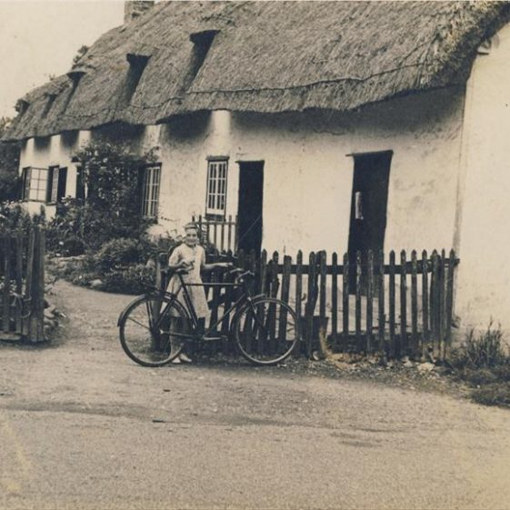 Enid Fost outside Willow Way Cottages, c. 1933 | Photograph supplied by Enid Fost
