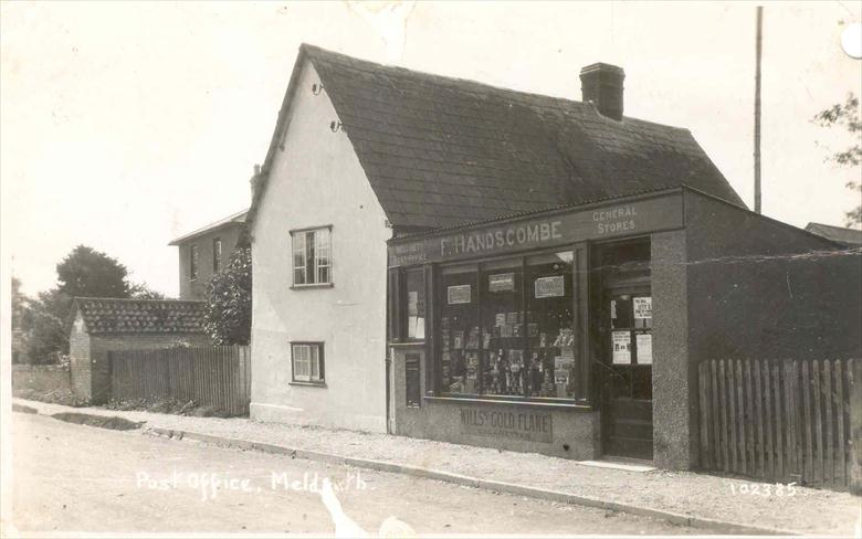 102385 Post Office, Meldreth [High Street]<br> The single storey extension is believed to have been added in 1924. | Bell's postcard supplied by Ann Handscombe