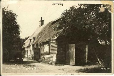 The Old Smithy, site of Meldreth's first Post Office | Bell's Postcard supplied by Ann Handscombe