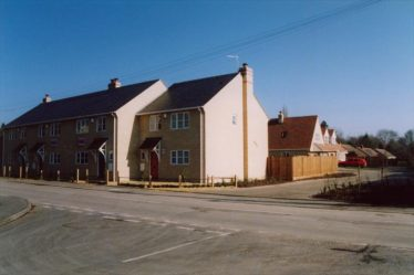 New houses on the site of the garage