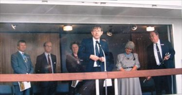 Peter Bottomley Minister for Transport opening the Bypass | Meldreth WI