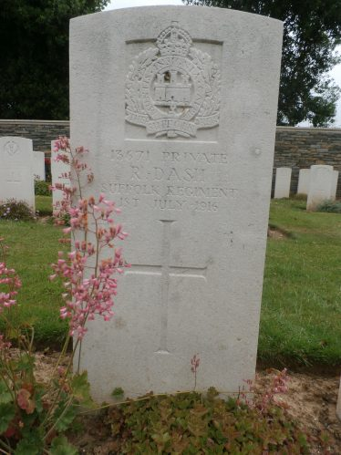 Reuben Dash's grave in the Cerisy-Gailly French National Cemetery | Ann Rogers