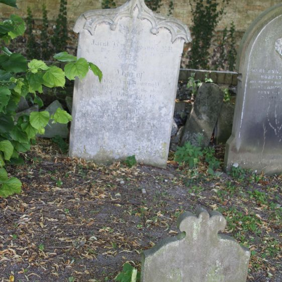 62: Sacred/ to the Memory of /LIET: JAMES COSNOLD R.N./ who died March 2nd 1853/ Aged 63/ Having been upwards of fifty years in the service/ Also of /ELIZA ANN COSNOLD/ the beloved wife of the above/ who died Oct 30th 1876/ aged 73/ and/ also of/REBECCA ALPE MARIA COSNOLD/ who died May 12th 1841/ aged 10 months./ | Photograph by Malcolm Woods