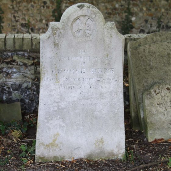 65: In affectionate memory /of/GEORGE MAZE/ died September 25 1845/ aged 39 years/ Shall not the judge of all the earth/do right./ | Photograph by Malcolm Woods
