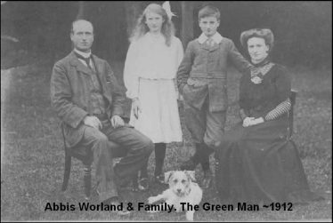 Abbis Worland and Family ~1912 | Photograph supplied by Walter Worland