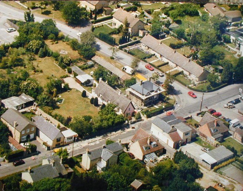 Aerial View of 'Dormers' (The Old Bell) in the 1960s | Photo is property of Avril McArthur