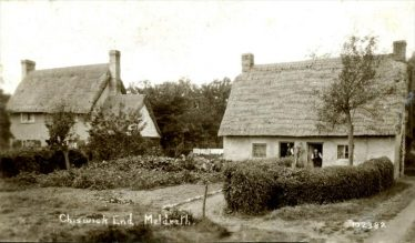Addlestone Charity Cottages next to Fordham Cottage, Chiswick End, Meldreth | Bell's Postcard