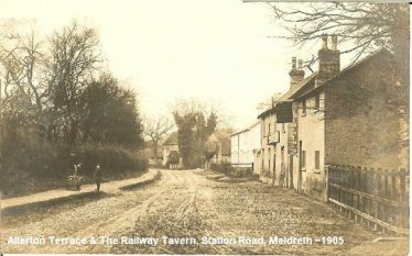 The Railway Tavern, Station Road, Meldreth, 1905 | Robert H Clark postcard
