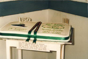 Birthday cake to celebrate the railway's 150 years. | Ann Handscombe