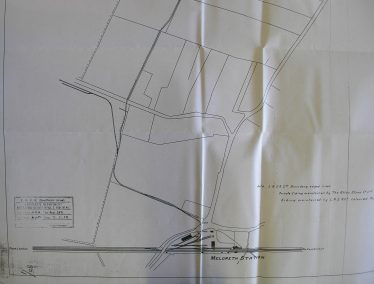 Drawing of the planning application by The Atlas Stone Company to build two new sidings beside Chiswick End made in 1929. | Chelmsford Record Office