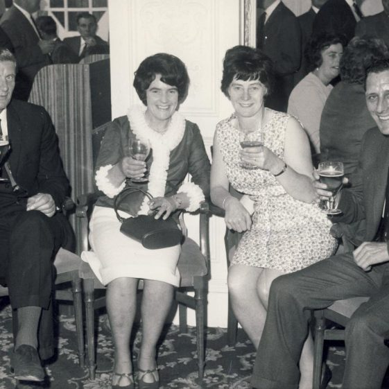 A Photo from a Social Evening at the Atlas Sports and Social Club<br> L to R: Bob Jacobs, Marge Cooper, Joy Jacobs, Derek Cooper | Linda Clarke