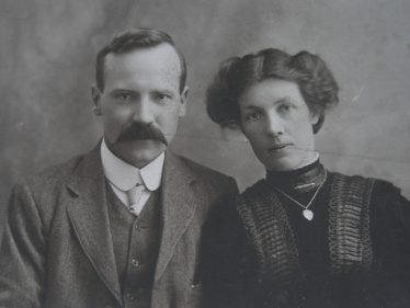 Harry Adcock and his wife, Grace (nee Hart).  c. 1915 | Photograph courtesy of Roger Hart