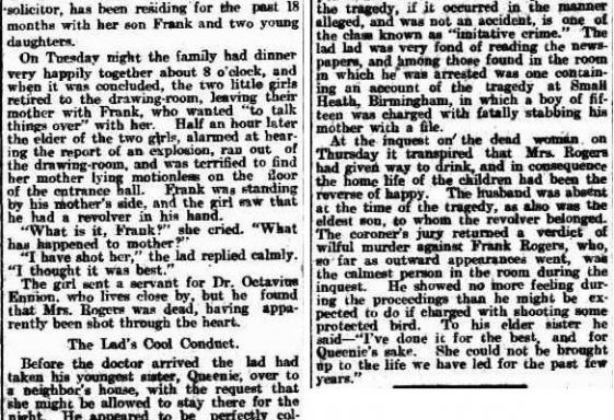 How the tragedy was reported in Australian newspapers