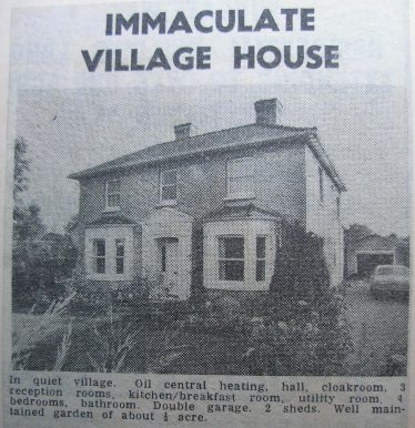 Orchard Dene was advertised for sale in 1977 | Photograph from a Meldreth WI Scrapbook