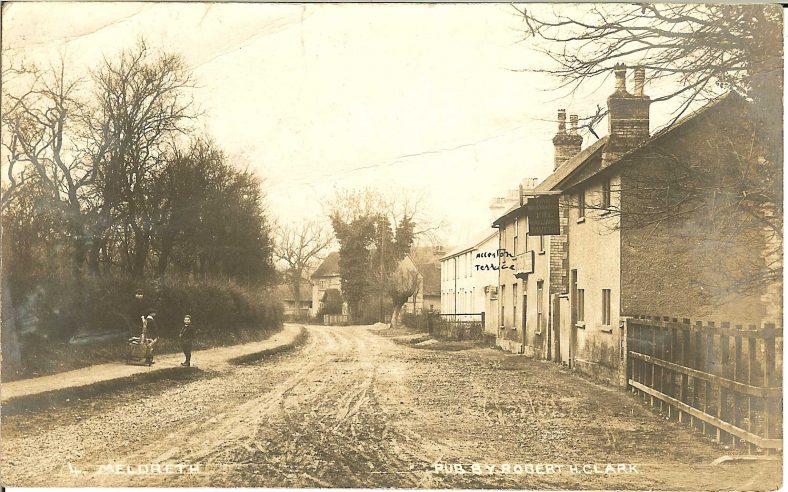 <b>High Street: The Railway Tavern and Allerton Terrace<b> | Robert H Clark postcard, c. 1905