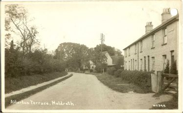 Allerton Terrace railway cottages, where the Pepper family lived, shown in the 1920s | Bell's Postcard
