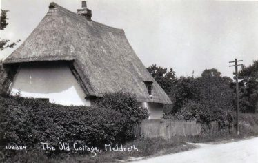 Applecote Cottage, High Street, Meldreth, 1920s | Bell's Postcard