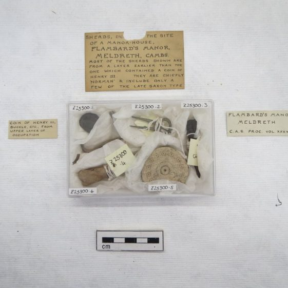Examples of Lethbridge's finds from the Flambards excavation in 1933 | Photograph by Robert Skeen, courtesy of the Museum of Archaeology and Anthropology, Cambridge