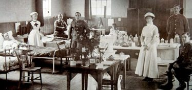 The Auxiliary Hospital, Shepreth Village Hall, First World War | Daily Mail online, January 2011