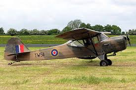 A WWII Auster light aircraft of the type that Brian Pepper may have viewed at Royston | en.wikipedia.org
