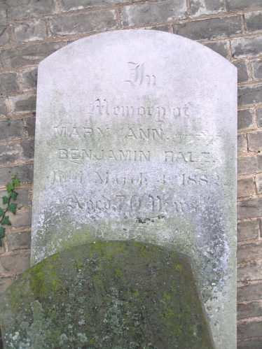 Grave of Benjamin and Mary Ann Hale, Holy Trinity, Meldreth, churchyard | Tim Gane