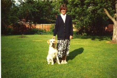 Betty in vicarage garden c. 1988 | Photo supplied by Jim Greasley