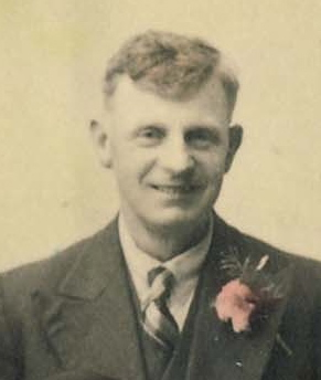 Bill Wing (Senior) at his son's wedding, 1943