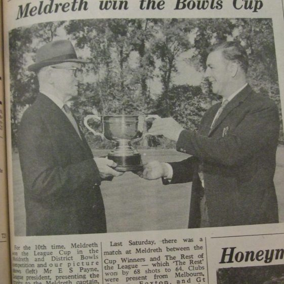 Meldreth win the Bowls Clup | Royston Crow, 25th September 1970