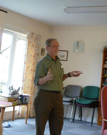 Brian at a History Group coffee morning in 2012