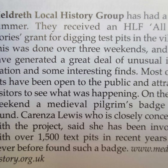 The news item from Local History News | Number 108, Summer 2013