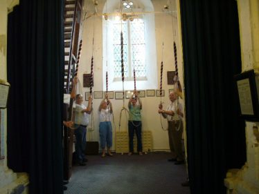 Holy Trinity Church bell ringers | Photograph by Barbara Mitchell