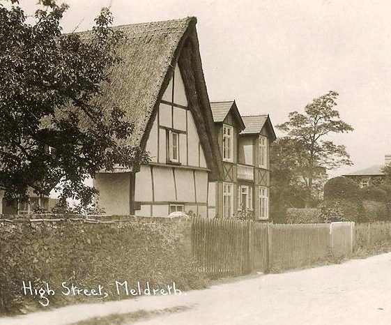 High Street, Meldreth showing the Old Bell, formerly a public house. c.1930 | Photo supplied by Brian Clarke