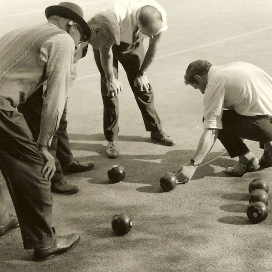 Players at Meldreth Bowls Club, 1970s | Photograph supplied by Dennis Pepper