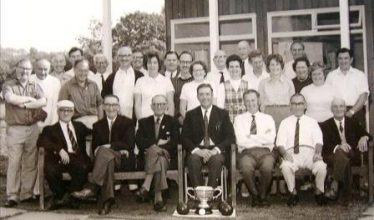 Meldreth Bowls Club pictured in 1972. Dennis centre of photo with Dorothy standing behind him. | Photo supplied by Alison Chalkley